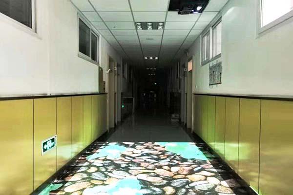 西单小学校园地面互动投影游戏系统