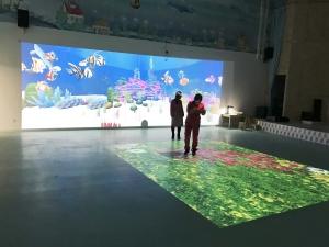 固安普莱森国际双语幼儿园儿童互动游戏系统案例